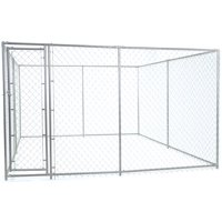 Lucky Dog 6'H x 5'W x 15'L or 6'H x 10'W x 10'L 2-In-1 Galvanized Chain Link with PC Frame Kit