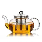84d0f8c7677 Glass Teapot with Stainless Steel Infuser   Lid
