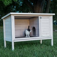 Boomer & George Elevated Outdoor Rabbit Hutch, White