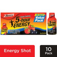 5-hour ENERGY® Regular Strength Berry Flavor, Low Calorie Energy Shot, 10 Pack