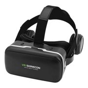 WALFRONT For VR SHINECON Virtual Reality 3D VR Glasses w/ Earphone for 3.5 -6.0  Android iOS Phones, 3D Virtual Reality Glasses, VR Goggles
