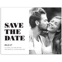 Modern Wedding Save the Date Postcard