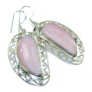 8a4a33dcb156df Awesome Pink Opal Sterling Silver earrings by SilverRush Style