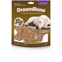 DreamBone Dog Chews Made w/ Real Peanut Butter, 12-Count