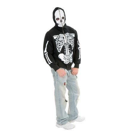 Halloween Skeleton Hoodie Adult Costume](Halloween Skeleton Q Tips)