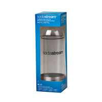 SodaStream 1 Liter Carbonating Bottle Single, Metal