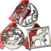 Gloria Duchin Lodge-Theme Christmas Ornament Gift Set, 3-Piece
