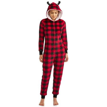 Christmas Pajamas Womens.Matching Family Christmas Pajamas Womens And Womens Plus Buffalo Union Suit