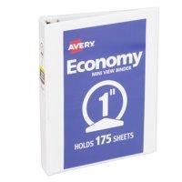 "Avery 1"" Mini Economy View Binder, 8-1/2"" x 5-1/2"", White, 05806"