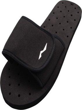 Norty Boys Mens Summer Comfort Casual Slide Strap Shower Sandals Slip On Shoes, 40339 Black / 5D(M)US