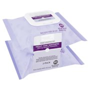 Equate Beauty Night-Time Soothing Makeup Remover Towelettes, 40 Count, 2 Pack