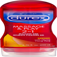 Durex Massage & Play 2 in 1 Sensual Ylang Ylang Water Based Massage and Intimate Pleasure Gel - 6.76 oz