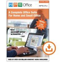 WPS Office: Lifetime License (3 PCs/Unlimited Mobile Installs) (Digital Code)