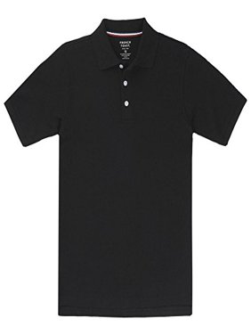 French Toast Short Sleeve Pique Polo Boys Black 10