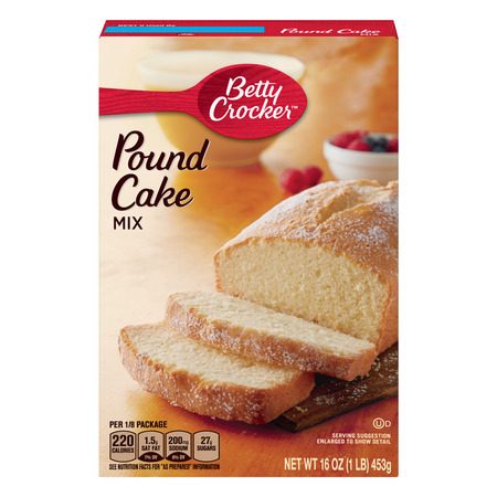 (2 pack) Betty Crocker Pound Cake Mix, 16 oz Box (Best Marble Pound Cake)