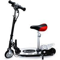 Maxtra ASTM Approved Electric Scooter 177lbs Max Weight Capacity Motorized Bike Removable Seat Red