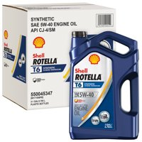 Shell Rotella T6 5W-40 Full Synthetic Heavy Duty Diesel Engine Oil, 1 gal (3-pack)