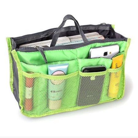Lightweight Multi-Pocket Handbag Organizer Purse Insert with Handles Many Pockets - 2 Pack (Light Double Handle Bag)