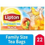 (3 Boxes) Lipton Family Black Iced Tea Bags Peach 22 count