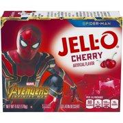 (3 Pack) Jell-O Cherry Instant Powdered Gelatin Dessert, 6 oz Box