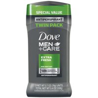 Dove Men+Care Antiperspirant Deodorant Stick Extra Fresh 2.7 oz, Twin Pack