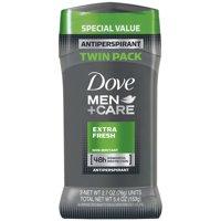Dove Men+Care Antiperspirant Deodorant Stick Extra Fresh 2.7 oz, Twin Pack