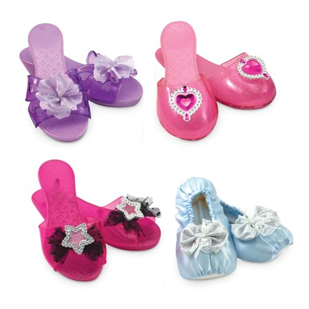 Melissa & Doug 4 Style Dress-Up Shoes, Role Play - Hair Dress Up