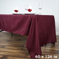 """Efavormart 60x126"""" Polyester Rectangle Tablecloths for Kitchen Dining Catering Wedding Birthday Party Decorations Events"""