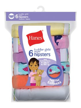 Hanes Baby Toddler Girl Hipster Underwear, 6-Pack
