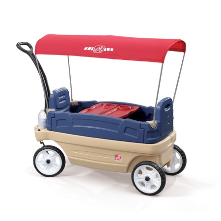 Step2 Whisper Ride Touring Wagon Plastic Canopy Wagon for Kids