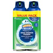 Scrubbing Bubbles Mega Shower Foamer Aerosol, Rainshower, 2 pack, 20 Ounces