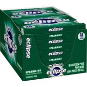 Eclipse Chewing Gum, Spearmint, Tear Pack, 18 Count (Pack of 8)