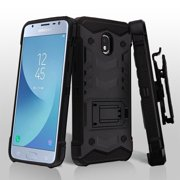 Samsung Galaxy J3 2018, Express Prime 3, J3 Achieve, J3 V, J3 Star Phone Case Hybrid Armor Rugged TPU Rubber Dual Layer Protective Cover Swivel Clip Holster ...