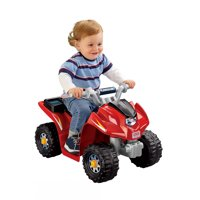 Power Wheels Lil' Kawasaki 6V Battery-Powered Ride-On Quad