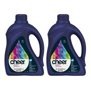 (2 pack) Cheer Liquid Laundry Detergent 64 loads 100 fl oz