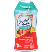 (12 Pack) Crystal Light Liquid Strawberry Pineapple Refresh with Caffeine Drink Mix, 1.62 fl oz Bottle
