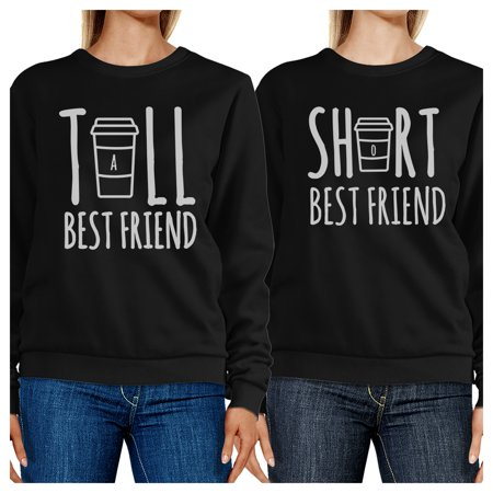 Tall Short Cup BFF Matching Sweatshirts Gift For Best Friends (Tall And Short Best Friends)