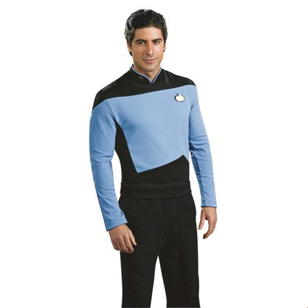 Star Trek Mens Deluxe Science Uniform Halloween Costume - Star Trek Costumes For Men