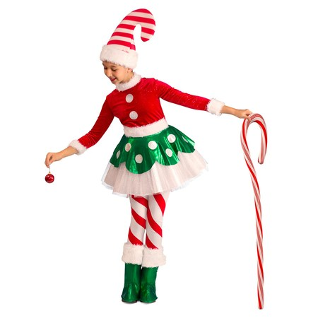 Candy Cane Elf Princess Halloween Costume](Wood Elf Halloween Costumes)