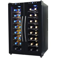 NewAir 32-Bottle Dual-Zone Thermoelectric Wine Refrigerator, Black