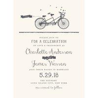 Our Journey Together Standard Wedding Invitation