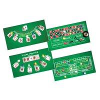 4 Casino Games - Roulette, Blackjack, Poker, Craps