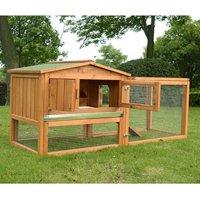 Pawhut Outdoor Small Animal Hutch with Run