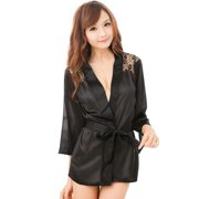 0284ef0684 JOYFEEL Clearance Women Sexy Night Gown Sexy Lingerie Plus Size Lace  Intimate Black Cover-up