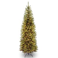 7' Kingswood Fir Pencil Tree with Clear Lights