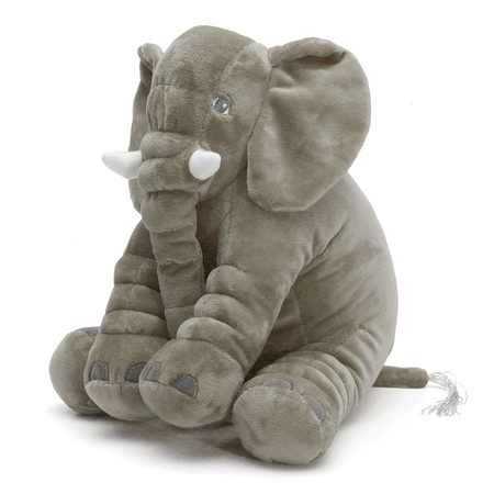 25x30cm Baby Soft Plush Elephant Sleep Pillow Kids Lumbar Cushion Children Doll Toys Gifts - Toddler Elephant