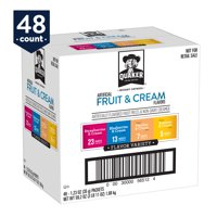 Quaker Instant Oatmeal, Fruit & Cream Variety Pack, 48 Packets