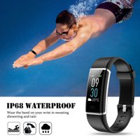 NERDI Fitness Tracker, Activity Tracker IP68 Waterproof Fitness Watch Heart Rate Monitor Colorful OLED Screen Smart Watch with Sleep Monitor Step Counter Reminder Pedometer for Android&iOS