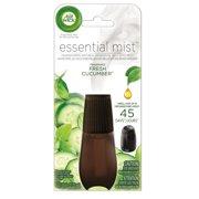 (2 pack) Air Wick Essential Mist Fragrance Oil Diffuser Refill, Fresh Cucumber, Air Freshener