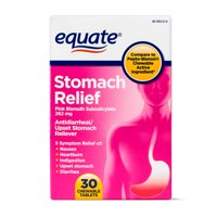 Equate Stomach Relief Chewable Tablets, 262 mg, 30 Count